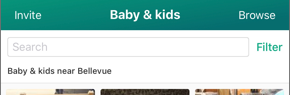 Screenshot of a search field for the Baby & kids category.