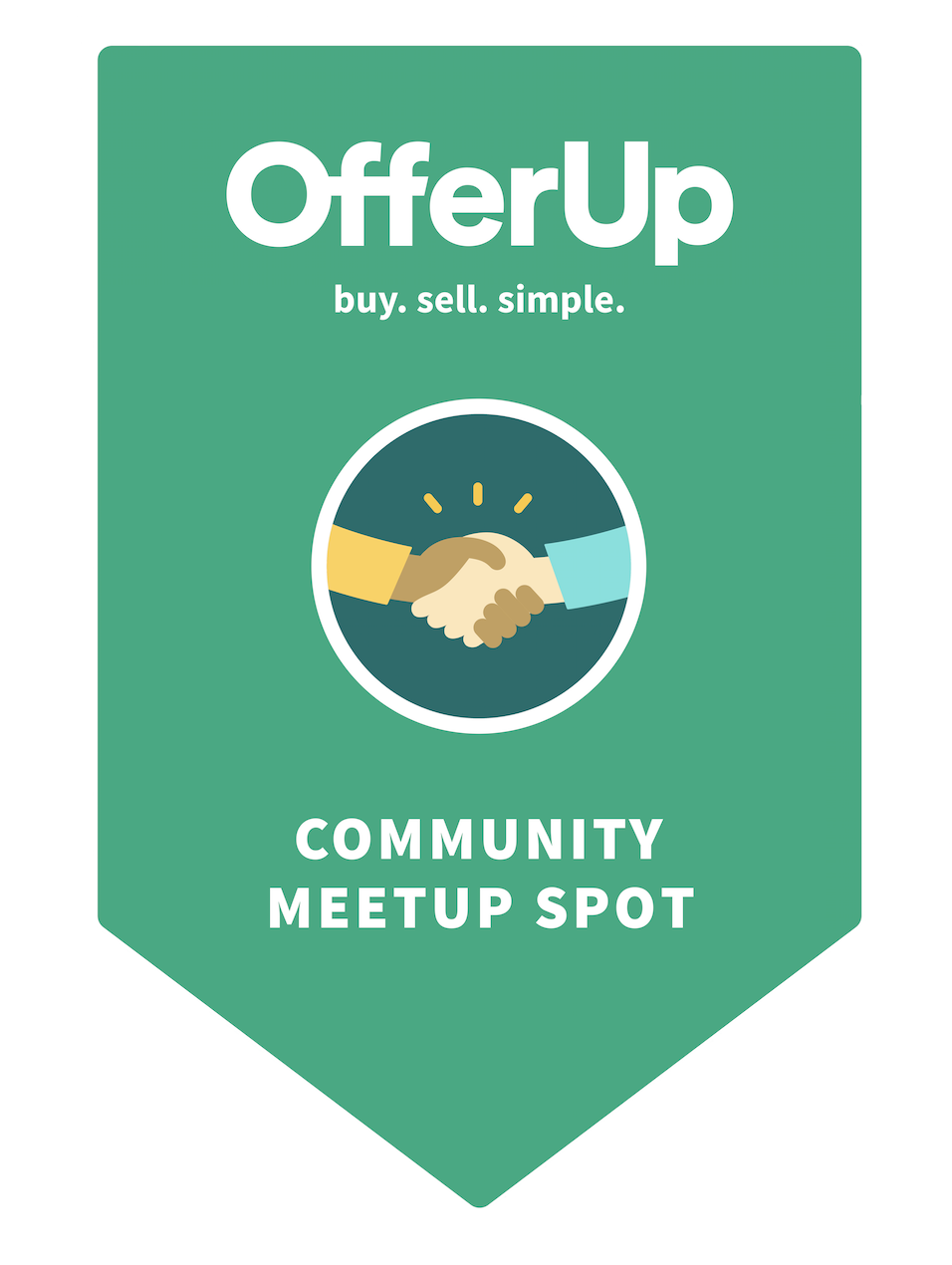 Picture of a green MeetUp Spot sign