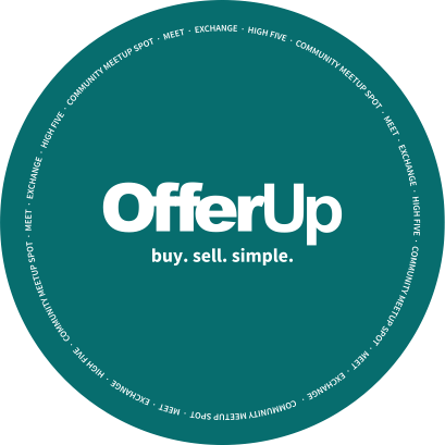 Picture of a green OfferUp sign